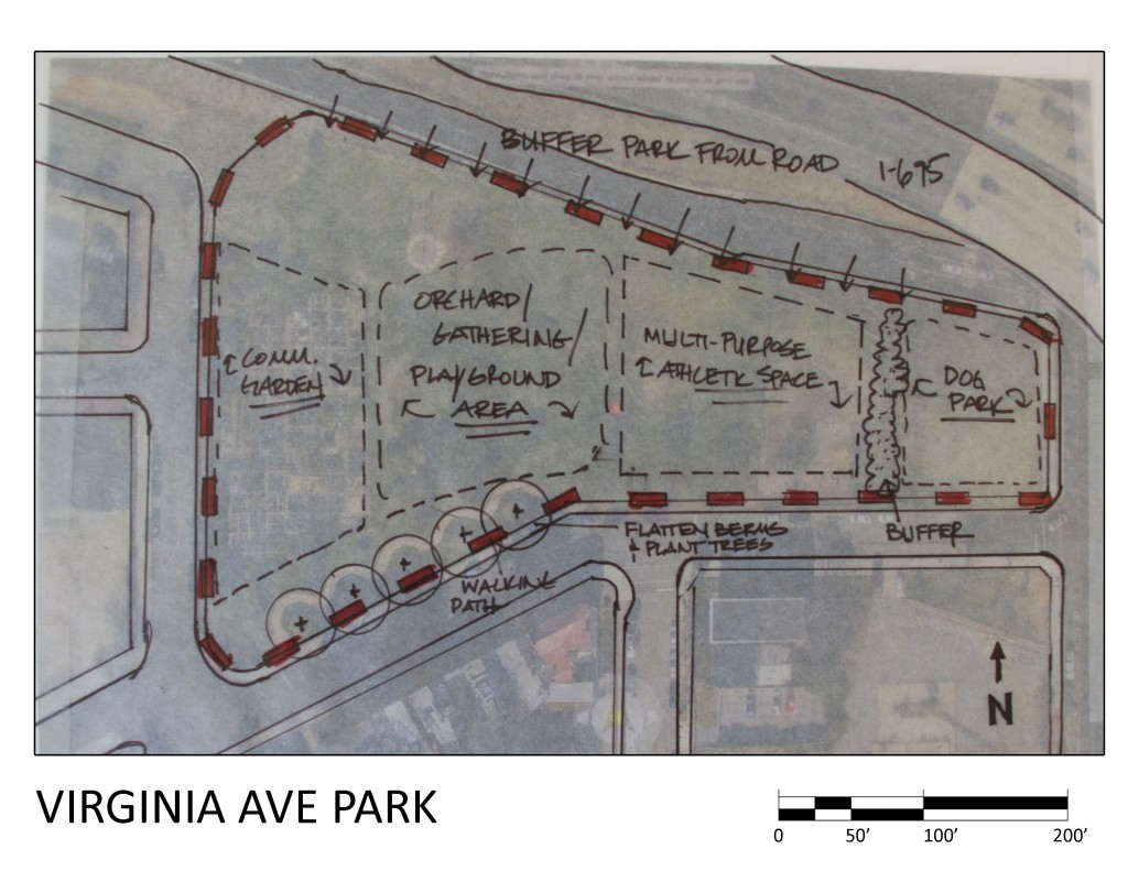 Va Ave Park Conceptual Drawing
